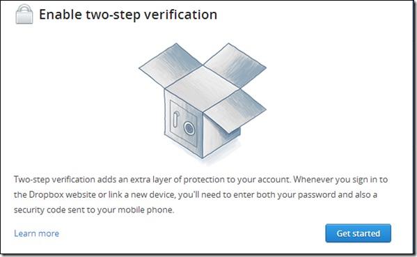 Come proteggere il tuo account Dropbox con immagine di verifica in due passaggi 1 - Professor-falken.com