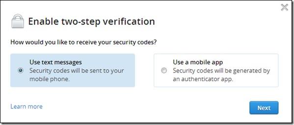 Come proteggere il tuo account Dropbox con immagine di verifica in due passaggi 3 - Professor-falken.com